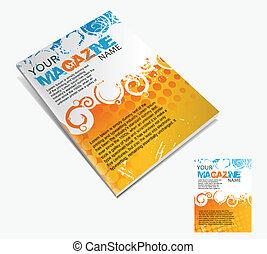 layout, tidskrift, design