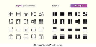 Layout UI Pixel Perfect Well-crafted Vector Thin Line And...