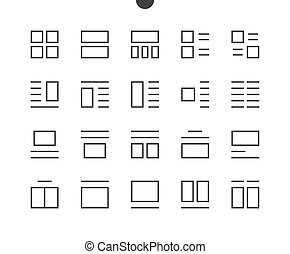 Layout UI Pixel Perfect Well-crafted Vector Thin Line Icons...