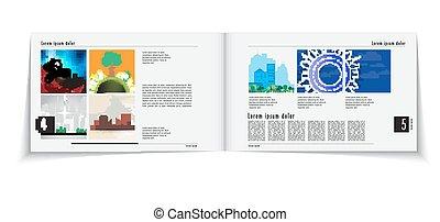layout, vektor, editable, magazine.