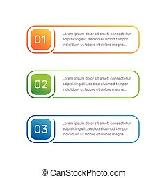 layout workflow outline colorful menu for app interface number