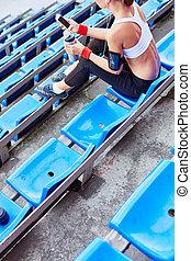 lazer, em, estádio