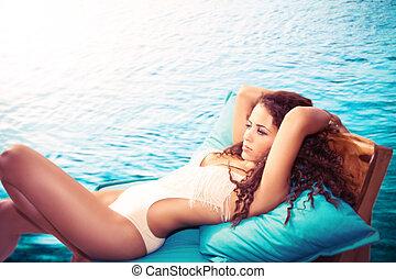 lazer, piscina