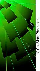 lazer, verde, solapa