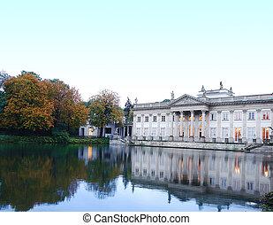 Lazienki Palace in Warsaw