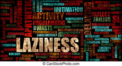 Laziness as a Lifestyle Concept Abstract Background