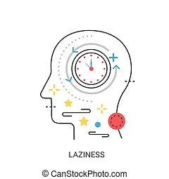 Laziness vector illustration concept.