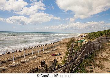 lazio, plage, italie, sabaudia