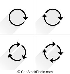 lazo, reload, flecha negra, rotación, refrescar, icono
