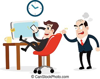 Lazy businessman - Clipart picture of a businessman cartoon...
