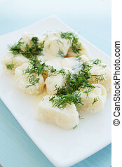 lazy dumplings with sour cream