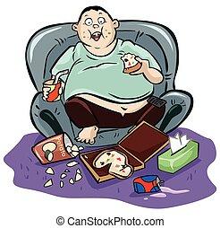 Lazy fat man