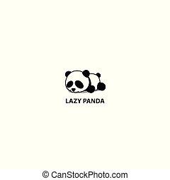 Lazy panda, cute panda sleeping icon, logo design, vector illustration