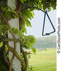 Lazy Summer Porch - summer porch with dinner bell triangle