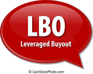LBO acronym word speech bubble illustration