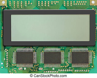 LCD display for you own text.