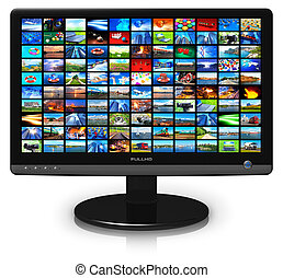 LCD display with picture gallery