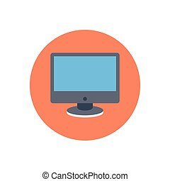LCD  flat color icon