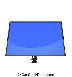 lcd, flatscreen, moniteur télévision, 3d