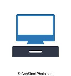 LCD glyph color icon