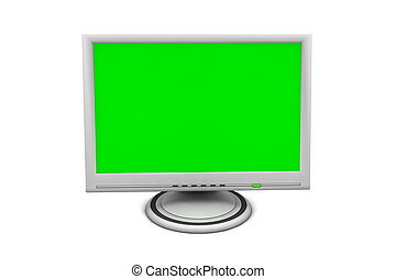 lcd, moniteur écran plat
