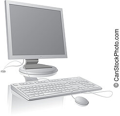 LCD monitor and keyboard template