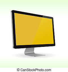 LCD monitor - Vector LCD monitor isolated for presentations