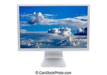 lcd, monitor computer