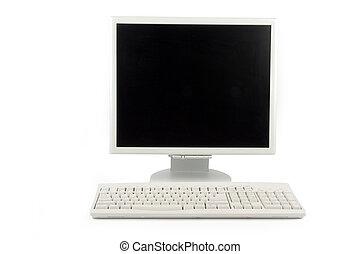lcd, monitor, en, toetsenbord
