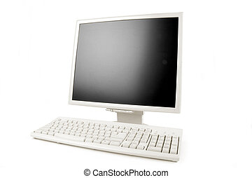 lcd, monitor, klaviatura