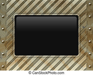 LCD monitor on wall