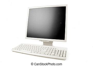 lcd, monitor, y, teclado
