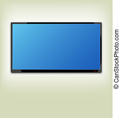 LCD or LED tv screen hanging on the wall