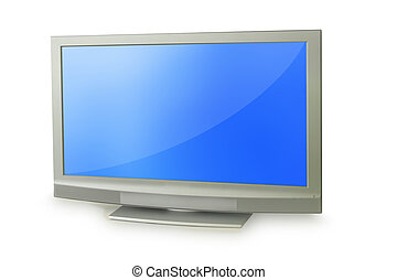 lcd - Plasma TV Isolated On White