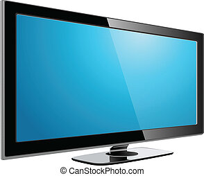 LCD plasma TV - lcd plasma tv, realistic vector illustration...