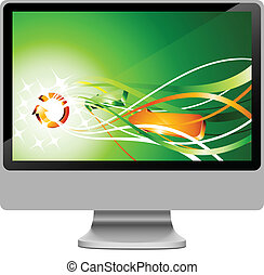 LCD. - Realistic widescreen lcd. Vector illustration.