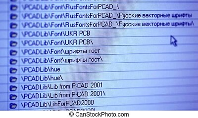 LCD screen with data process - PC screen with data storage...