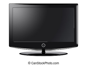 LCD Television - A computer illustration of a black...