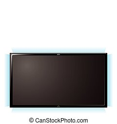 lcd television glow - Modern lcd flat screen television with...