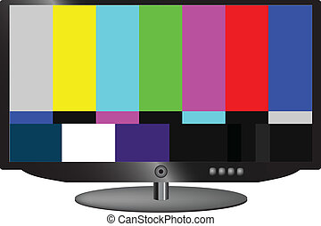 LCD TV color test signal