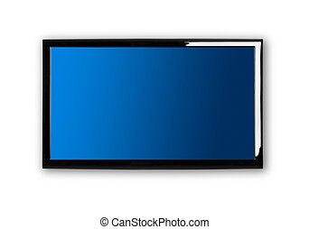 Lcd TV - Modern lcd TV on a white wall