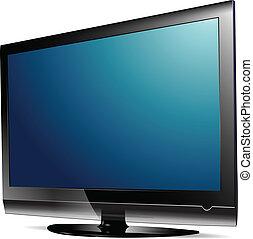 lcd, tv., plasma