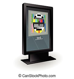 lcd tv with test vector illustration part two