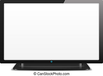 LCD TV with White Screen