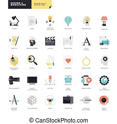 lcons for graphic and web design