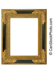picture frame - ld golden barock picture frame with...