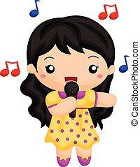 leány, énekel song