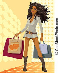 leány, bevásárlás