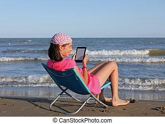 leány, ebook, modern, fiatal