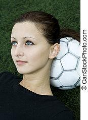 leány, futball